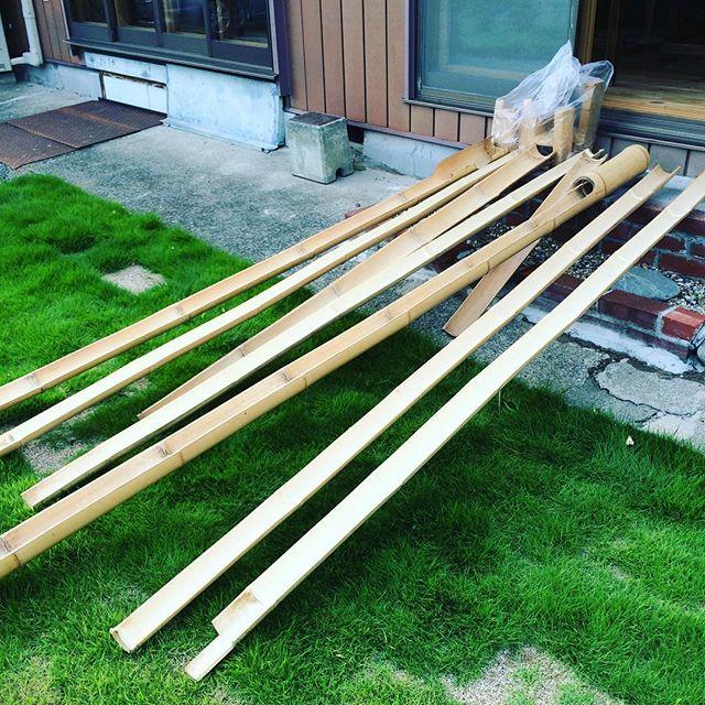 竹の用意完了!わたし帰ります!