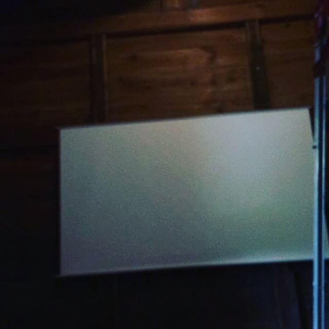 蔵が映画館の許可出たぞーい!晴れて、『蔵は小さな映画館』ですぞーい!こやって音を聞くだけでも特別感ある。