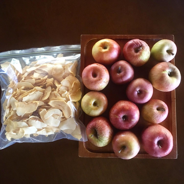 これがコレに。これだけがコレだけに。そりゃリンゴのドライフルーツ高いわけよ。